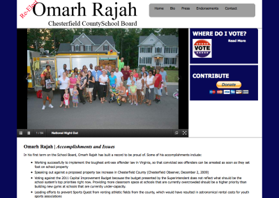 Omarh Rajah for School Board